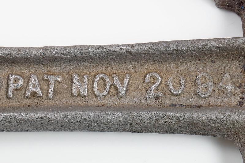 RD29543 Rare 1894 Hammer Wrench Tool JB Hebblethwaite Nail Puller NOV 20 94 DSC03776