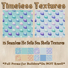 TT 12 Seamless He Sells Sea Shells Timeless Textures