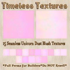 TT 18 Seamless Unicorn Sparkle Blush Timeless Textures
