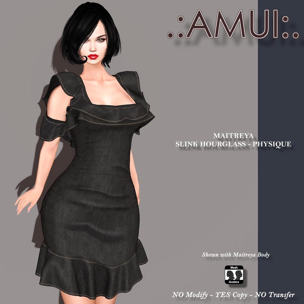 """.:AMUI:. """"Noelia"""" Dress – Black"""