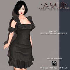 """.:AMUI:. """"Noelia"""" Dress - Black"""