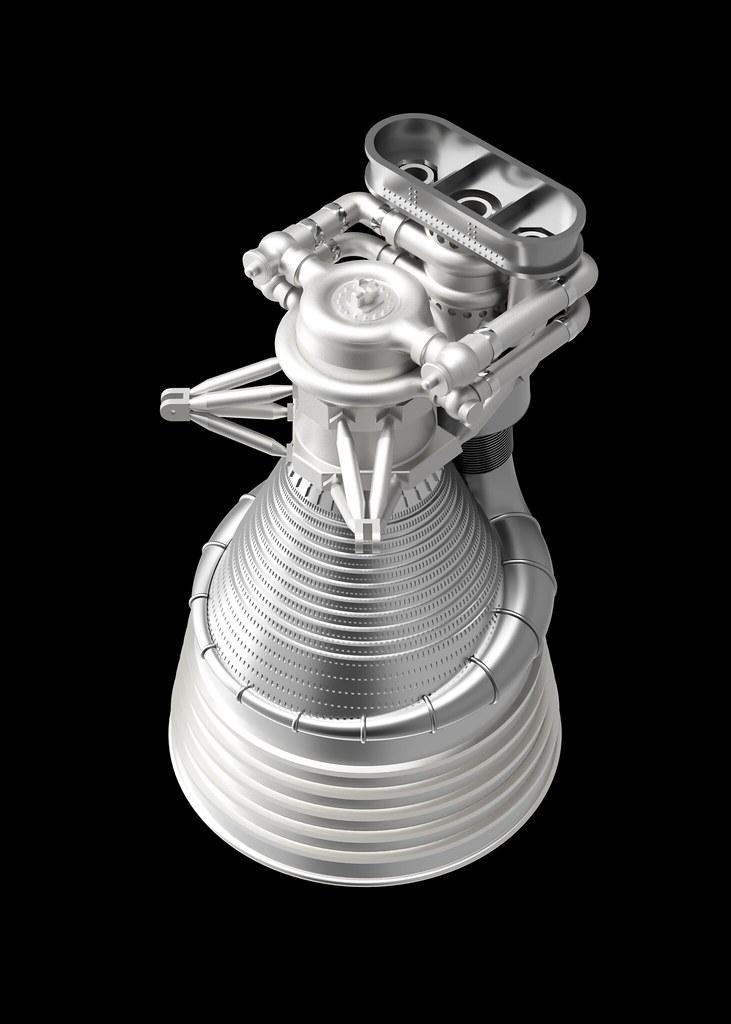 3D Model of Saturn V F1 engine