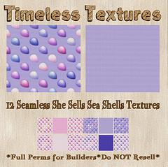 TT 12 Seamless She Sells Sea Shells Timeless Textures