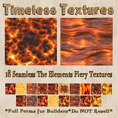 TT 18 Seamless The Elements - Fiery Timeless Textures