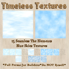 TT 15 Seamless The Elements - Blue Skies Timeless Textures