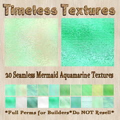 TT 20 Seamless Mermaid Aquamarine Timeless Textures
