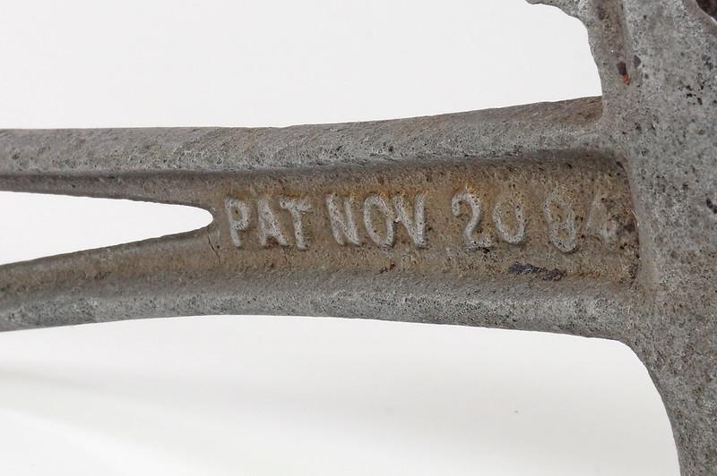 RD29543 Rare 1894 Hammer Wrench Tool JB Hebblethwaite Nail Puller NOV 20 94 DSC03779
