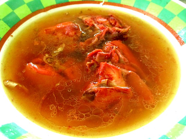 Traditional Foochow red wine chicken soup