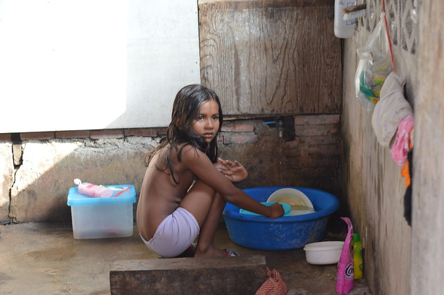 burmese girl at home