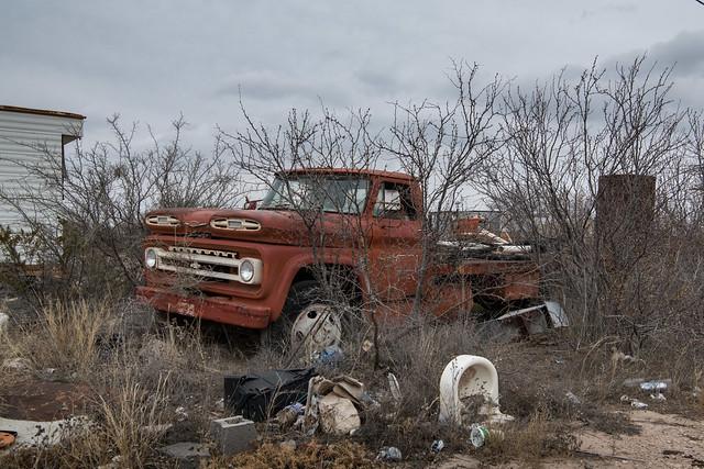 Orange Chevy Truck, West Texas