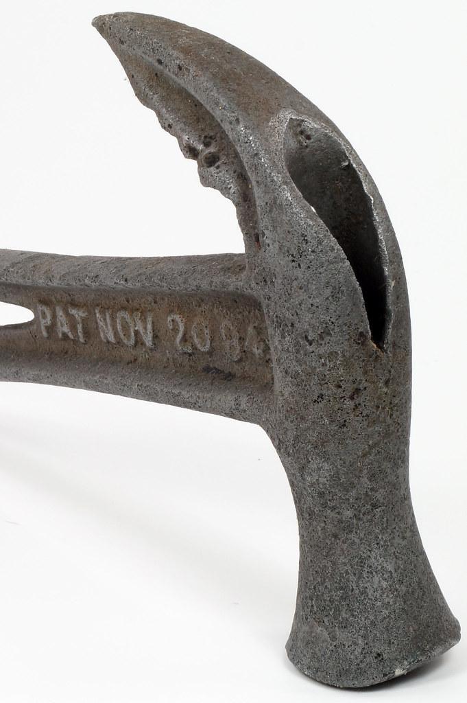 RD29543 Rare 1894 Hammer Wrench Tool JB Hebblethwaite Nail Puller NOV 20 94 DSC03781