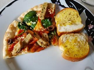 Fry's Mediterranean Pizza plus Coles Garlic Bread