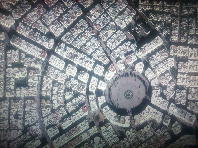 Fez on my screen #toronto #fez #morocco #satelliteimage #googleearth #googlehome #television