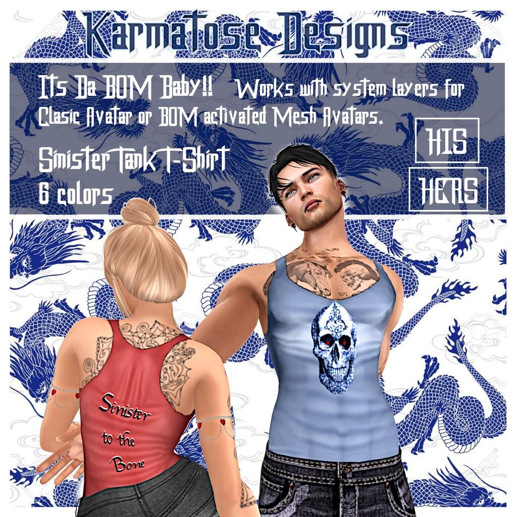 Karmatose Sinister Tank T-Shirt His n Hers