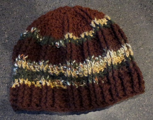 W4W Woodsy Striped Cable Hat