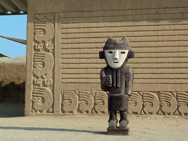 Detalle de la ciudad chimú de Chan Chan en el norte de Perú