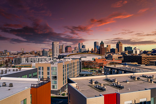 pabstbrewerycampus usa urban unitedstatesofamerica sunset milwaukee architecture wisconsin nikond850 city cityscape unitedstates skyline 2020 april