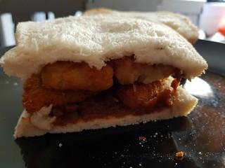 Chicken Nugget and Potato Gem sandwich