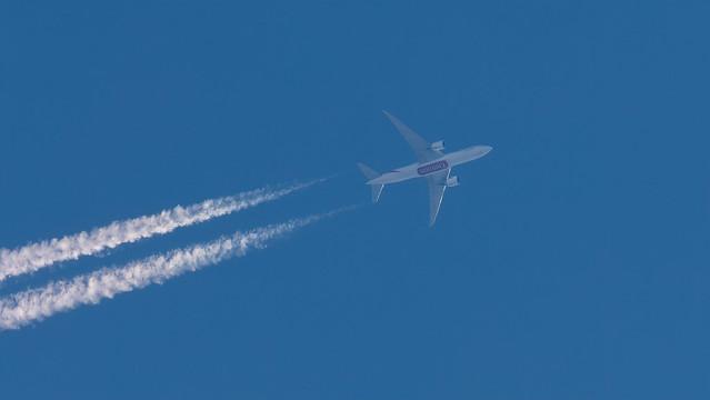 Emirates SkyCargo A6-EFO Boeing 777-F1H Clitheroe 04.05.2020