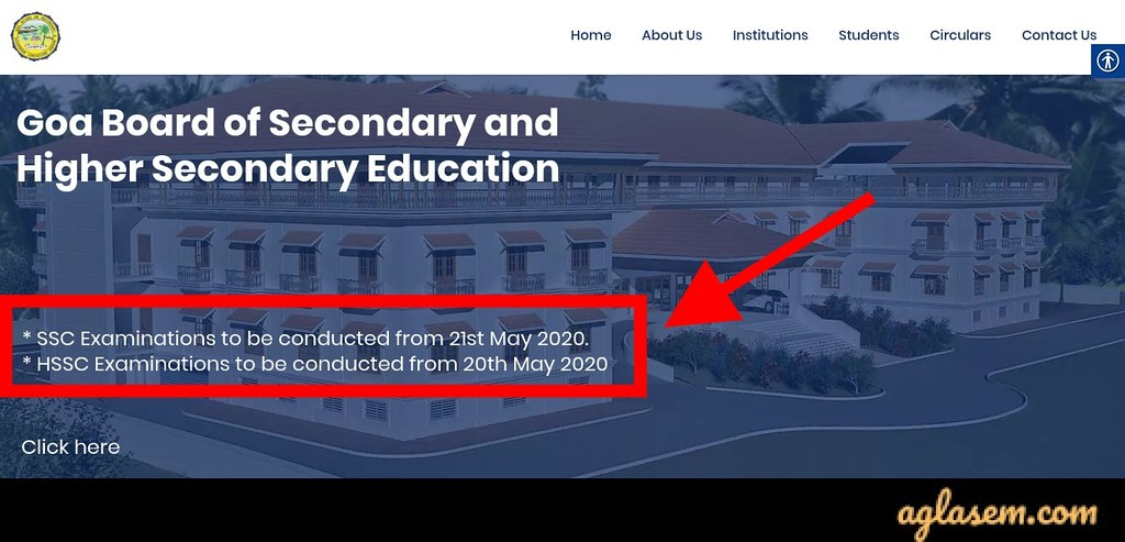 Goa Board SSC Exam Date 2020