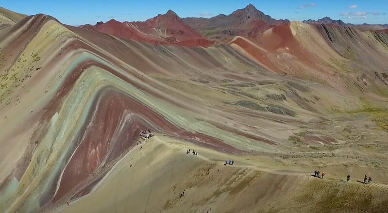 Montaña de los siete colores (Perú) - Vista de drone