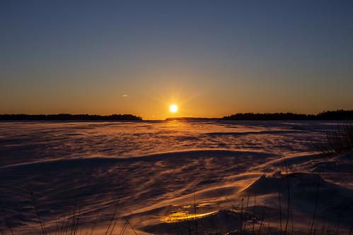 canon6d landscape nature outdoors outside sun sunrise frozen snow winter finland espoo