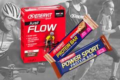 Novinky ENERVIT: proteinové tyčinky a Just Flow pro okysličení svalů