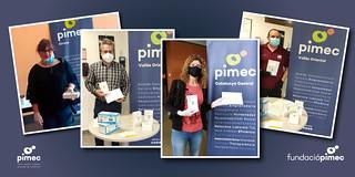 Campanya solidària de la Fundació PIMEC, destinada a repartir, sense cost, termòmetres i mascaretes als socis del territori.