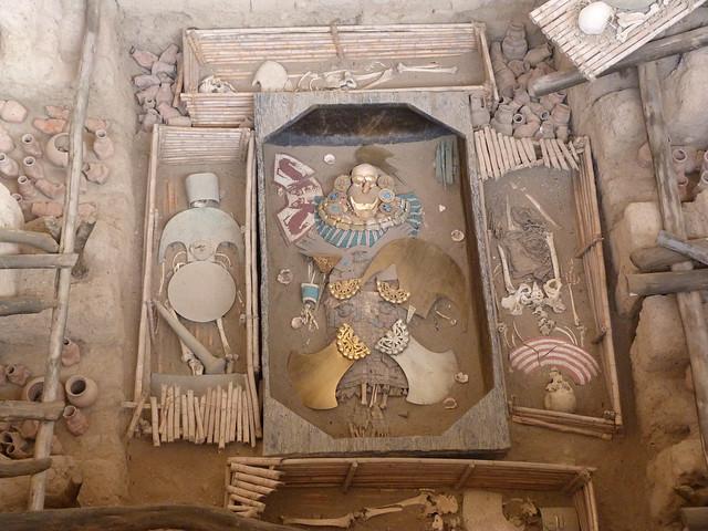 Tumba del Señor de Sipán en Perú