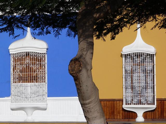 Fachadas de colores en Trujillo (Perú)