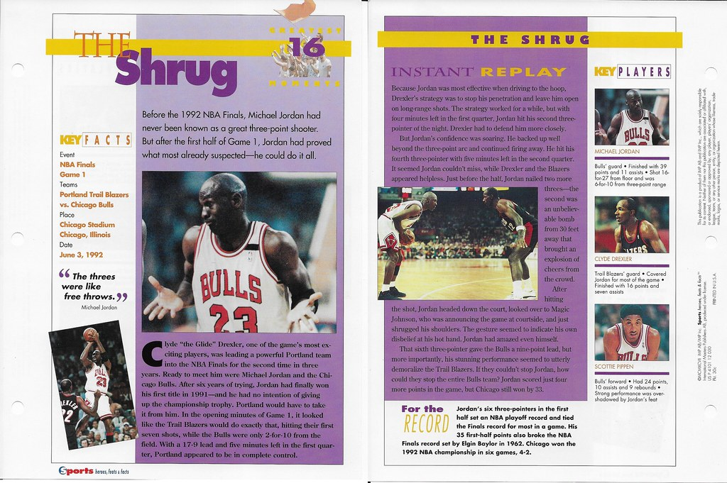 1997 Michael Jordan greatest moments 16 30c