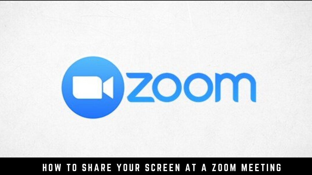 How to Share Your Screen at a Zoom Meeting