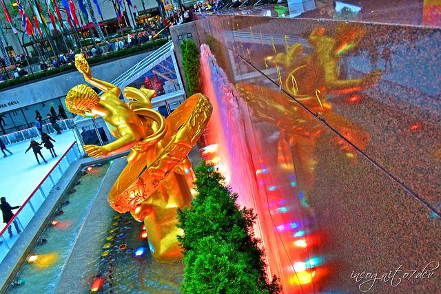 Prometheus Sculpture Statue Fountain The Rink Rockefeller Center Manhattan New York City NY P00520 DSC_1164