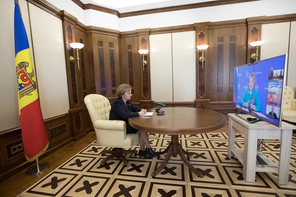 07.05.2020 Participarea Președintelui Parlamentului Zinaida Greceanîi la Conferință interparlamentară (online), dedicată aniversării a 75-a a Zilei Victoriei