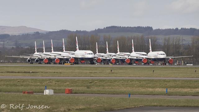 Airbus A321 British Airways Glasgow airport EGPF 21.03-20