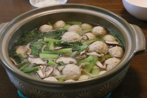 鶏団子ごぼう鍋