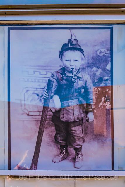 Humorous Historic Photo of Child Miner in Helper, Utah