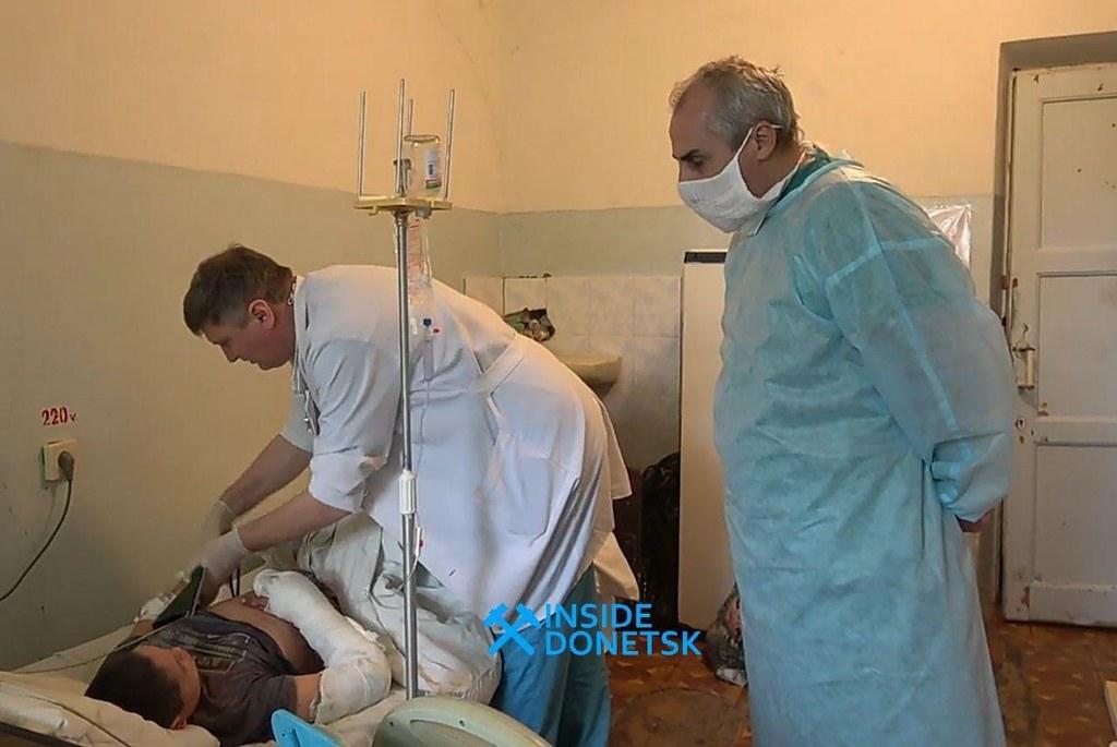 Garçon blessé par le tir des FAU contre Sakhanka