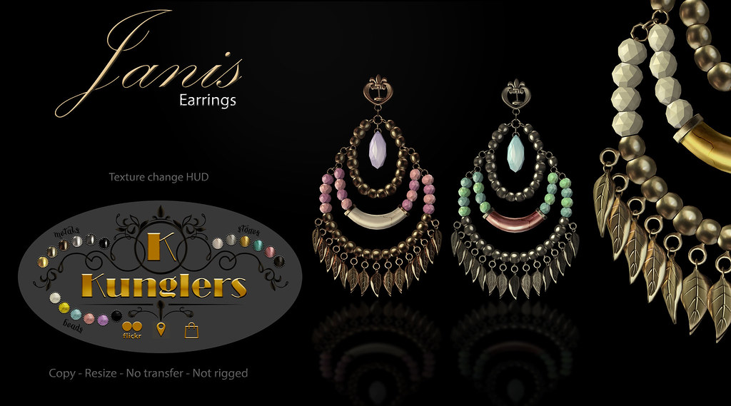 KUNGLERS – Janis earrings