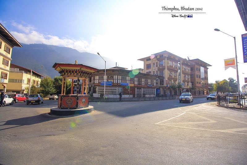 2014 Bhutan Thimphu Traffic Booth