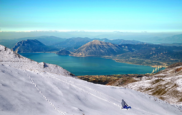 Snow Slide... with a view !