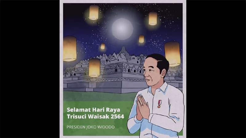 Presiden Jokowi Ucapkan Selamat Waisak 2564 EB