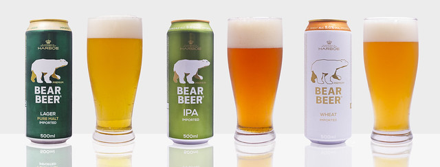 Bear Beer Beer Family on white
