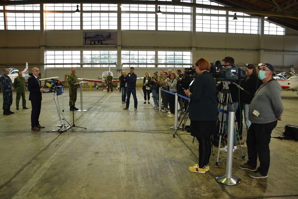 Konferencija za medije o nesreći pada aviona ZLIN