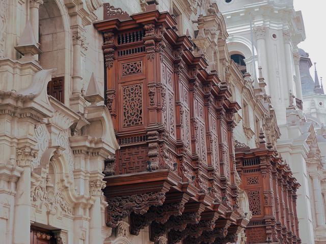 Detalle de la ciudad histórica de Lima (Perú)
