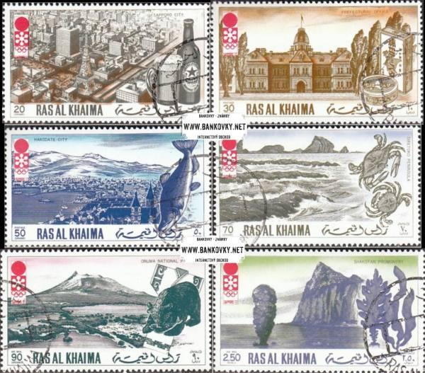 Známky Ras Al Khaimah 1972 ZOH Sapporo razítkovaná séria