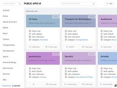 Public APIs UI
