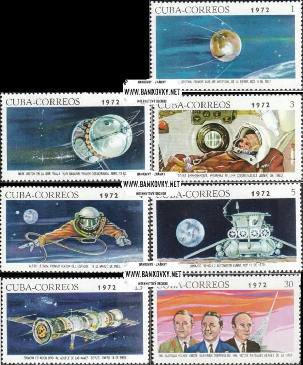 Známky Kuba 1972 Muži vo vesmíre nerazítkovaná séria MNH