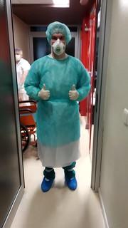 Mario Segura en uno de sus turnos en el Hospital Clínico de Zaragoza. Fuente: Mario Segura