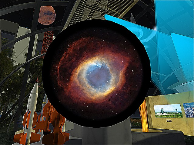 The Second Life Planetarium At Spaceport Alpha- Eye of God Sees All